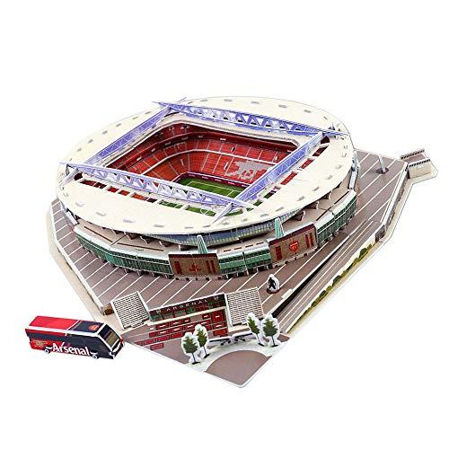 Puzzle Di Stadio Di Calcio 3d Diversi Paesi Campo Di Calcio Modello Mostra Top Model Divertimento Carta Fai Da Te Costruzione 3d Giocattolo Stadio Di Calcio Emirates Stadium 0 0