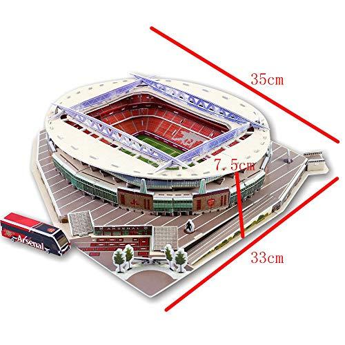 Puzzle Di Stadio Di Calcio 3d Diversi Paesi Campo Di Calcio Modello Mostra Top Model Divertimento Carta Fai Da Te Costruzione 3d Giocattolo Stadio Di Calcio Emirates Stadium 0 1