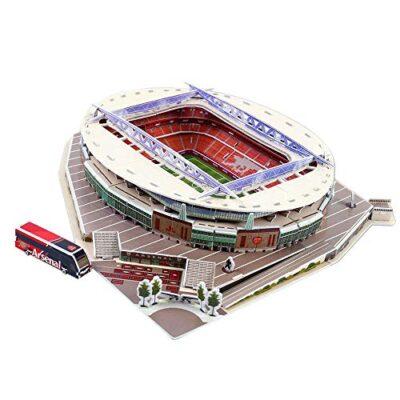 Puzzle Di Stadio Di Calcio 3d Diversi Paesi Campo Di Calcio Modello Mostra Top Model Divertimento Carta Fai Da Te Costruzione 3d Giocattolo Stadio Di Calcio Emirates Stadium 0