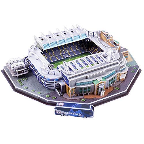 Puzzle Di Stadio Di Calcio 3d Diversi Paesi Campo Di Calcio Modello Mostra Top Model Divertimento Carta Fai Da Te Costruzione 3d Giocattolo Stadio Di Calcio Stamford Bridge 0