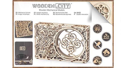 Quadro Meccanico Puzzle 3d Woodencity Mechanical Picture Modellino Di Progetti Per Adulti E Bambini 3d Modello Tecnico In Legno 347 X 231 X 62 Cm 0 2