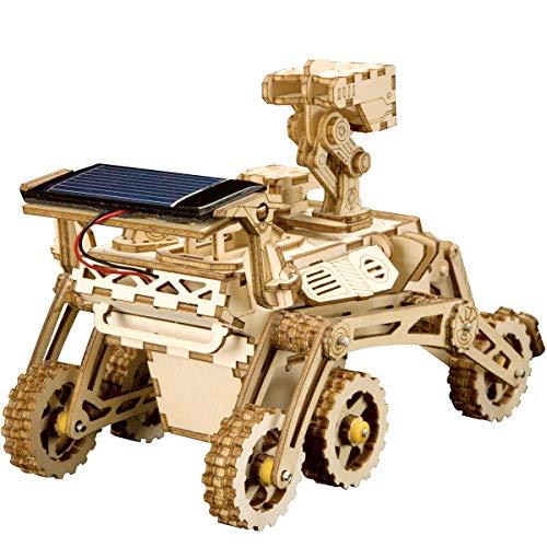 Rokr Energia Solare Giocattolo Set Stem Toys Kit Di Puzzle In Legno 3d Kit Di Costruzione Modello Meccanico Per Adolescenti E Adulti Curiosity Rover 0 1