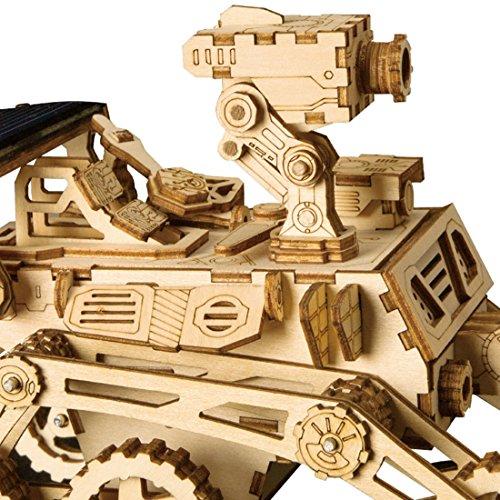 Rokr Energia Solare Giocattolo Set Stem Toys Kit Di Puzzle In Legno 3d Kit Di Costruzione Modello Meccanico Per Adolescenti E Adulti Curiosity Rover 0 2