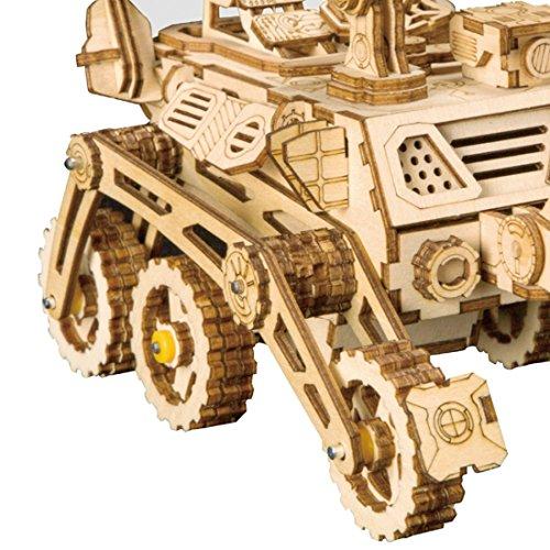 Rokr Energia Solare Giocattolo Set Stem Toys Kit Di Puzzle In Legno 3d Kit Di Costruzione Modello Meccanico Per Adolescenti E Adulti Curiosity Rover 0 3