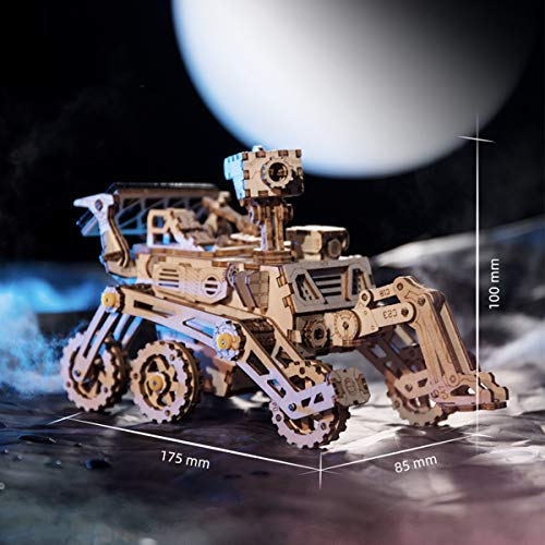 Rokr Energia Solare Giocattolo Set Stem Toys Kit Di Puzzle In Legno 3d Kit Di Costruzione Modello Meccanico Per Adolescenti E Adulti Curiosity Rover 0 4
