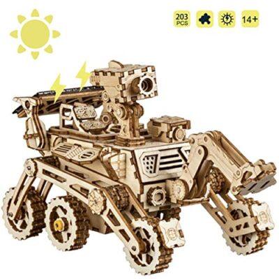 Rokr Energia Solare Giocattolo Set Stem Toys Kit Di Puzzle In Legno 3d Kit Di Costruzione Modello Meccanico Per Adolescenti E Adulti Curiosity Rover 0