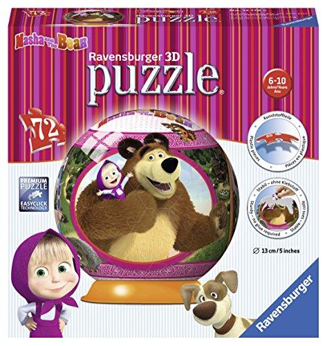 Ravensburger 12178 Masha E Orso Puzzle 3d Ball 0