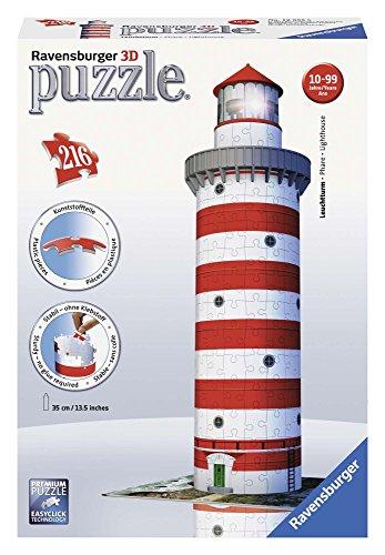 Ravensburger 12555 Puzzle 3d Soggetto Faro 216 Pezzi 0
