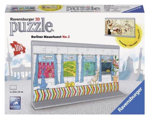 Ravensburger 12574 Puzzle 3d 108 Pz Soggetto Arte Sul Muro Di Berlino N 2 0