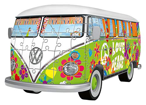 Ravensburger Camper Volkswagen Hippie Puzzle 3d Multicolore 30 X 14 X15 Cm 12532 0 0