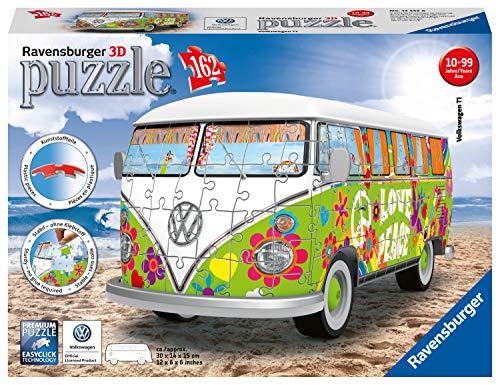 Ravensburger Camper Volkswagen Hippie Puzzle 3d Multicolore 30 X 14 X15 Cm 12532 0 1
