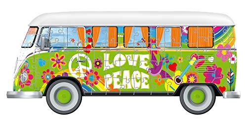 Ravensburger Camper Volkswagen Hippie Puzzle 3d Multicolore 30 X 14 X15 Cm 12532 0 5
