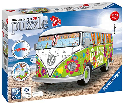 Ravensburger Camper Volkswagen Hippie Puzzle 3d Multicolore 30 X 14 X15 Cm 12532 0