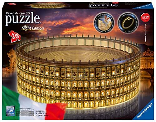 Ravensburger Colosseo Night Edition 3d Puzzle Multicolore 32 X 26 X 10 Cm 11148 0