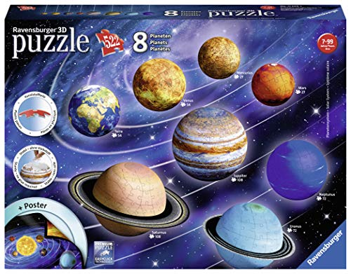 Ravensburger Il Sistema Planetario 3d Puzzleball Multicolore 8 Pianeti 11668 0