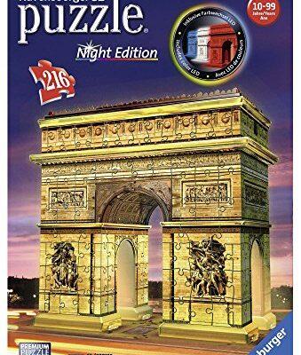 Ravensburger Italy Arc De Triomphe Arco Di Trionfo Puzzle 3d Building Night Edition 12522 0