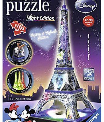 Ravensburger Italy Disney Classics Tour Eiffel Puzzle 3d Building Night Edition 12520 0