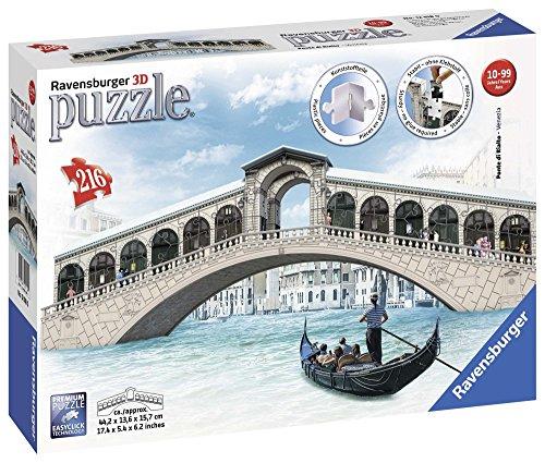 Ravensburger Italy Ponte Di Rialto Puzzle 3d Multicolore 216 Pezzi 12518 0 0