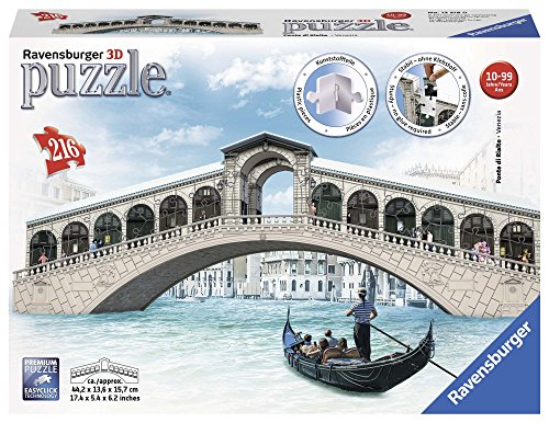 Ravensburger Italy Ponte Di Rialto Puzzle 3d Multicolore 216 Pezzi 12518 0