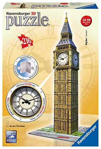 Ravensburger Italy Puzzle 3d Big Ben Con Orologio Funzionante Multicolore 12586 0 1