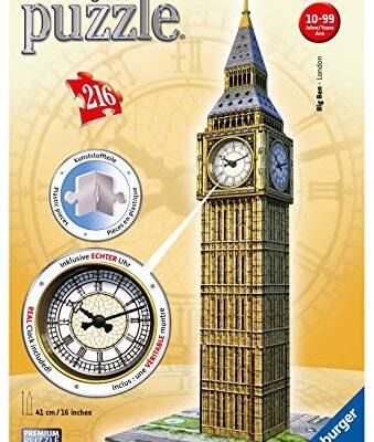 Ravensburger Italy Puzzle 3d Big Ben Con Orologio Funzionante Multicolore 12586 0