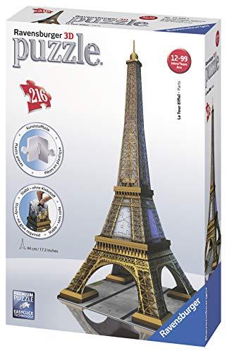 Ravensburger Italy Puzzle 3d Eiffel Tower Paris 216 Pezzi 125562 0 1