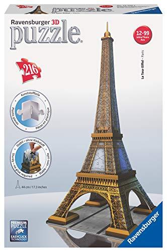 Ravensburger Italy Puzzle 3d Eiffel Tower Paris 216 Pezzi 125562 0