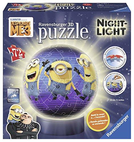 Ravensburger Italy Puzzle 3d Lampada Notturna Minions Cattivissimo Me 11821 0