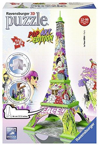 Ravensburger Italy Puzzle 3d Torre Eiffel Pop Art Edition 216 Pezzi Colore Bunt Rap125999 0 0