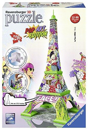 Ravensburger Italy Puzzle 3d Torre Eiffel Pop Art Edition 216 Pezzi Colore Bunt Rap125999 0