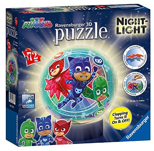 Ravensburger Pj Masks Night Light 72pc 3d Puzzle 0
