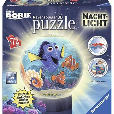 Ravensburger Puzzle 3d 12189 Dory 3d Di Puzzle Ball 72 Pezzi Di Luce Di Notte 0