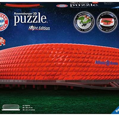Ravensburger Puzzle 3d 216 Pices Stade Allianz Arena Illumin Alleanza Notte Colore 12530 0