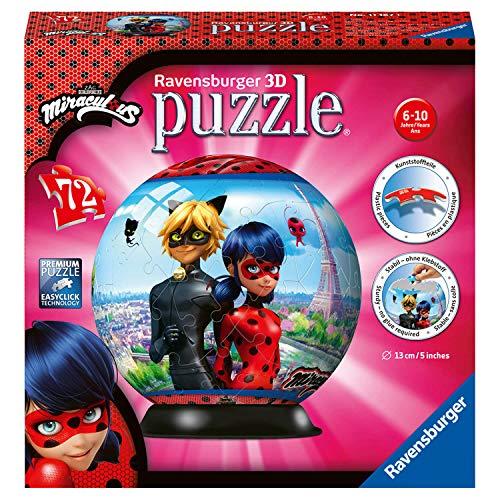 Ravensburger Puzzle 3d 72 Pices Puzzle Ball Miraculous 0 0