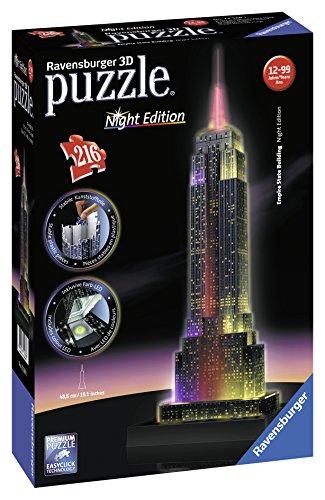 Ravensburger Puzzle 3d Empire State Building Edizione Speciale Notte 216 Pezzi Colore Nero 12566 1 0 1