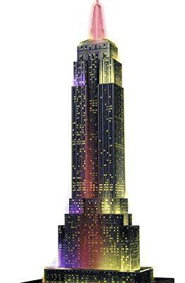 Ravensburger Puzzle 3d Empire State Building Edizione Speciale Notte 216 Pezzi Colore Nero 12566 1 0