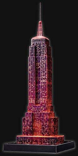 Ravensburger Puzzle 3d Empire State Building Edizione Speciale Notte 216 Pezzi Colore Nero 12566 1 0 4
