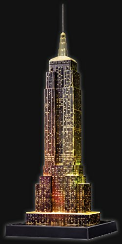 Ravensburger Puzzle 3d Empire State Building Edizione Speciale Notte 216 Pezzi Colore Nero 12566 1 0 5
