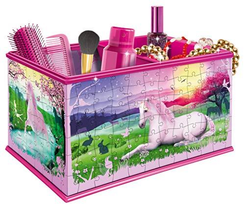 Ravensburger Scatola Portatrucci 12101 My 3d Boutique Con Motivo A Unicorno A Puzzle Da 216 Pezzi 0 0