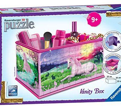 Ravensburger Scatola Portatrucci 12101 My 3d Boutique Con Motivo A Unicorno A Puzzle Da 216 Pezzi 0