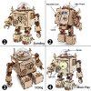Robotime Build Robot Music Box Kit Puzzle 3d In Legno Tagliato A Laser Kit Modello Adulti San Valentino Creativo Compleanno Per Ragazzi E Ragazze 0 1