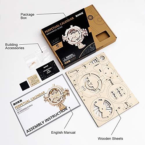 Robotime Calendario Perpetuo Kit Di Costruzione Modello Meccanico Per Taglio Laser Adulti 0 4