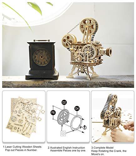 Robotime Mechanical Vitascope Kit Puzzle 3d Per Il Taglio Di Modelli 3d Per Il Legno Giochi Artigianali In Legno Per Bambini E Ragazzi 0 1