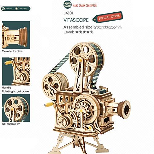 Robotime Mechanical Vitascope Kit Puzzle 3d Per Il Taglio Di Modelli 3d Per Il Legno Giochi Artigianali In Legno Per Bambini E Ragazzi 0 2