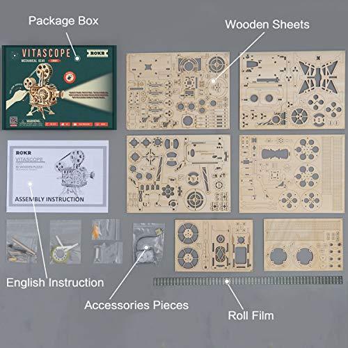 Robotime Mechanical Vitascope Kit Puzzle 3d Per Il Taglio Di Modelli 3d Per Il Legno Giochi Artigianali In Legno Per Bambini E Ragazzi 0 4