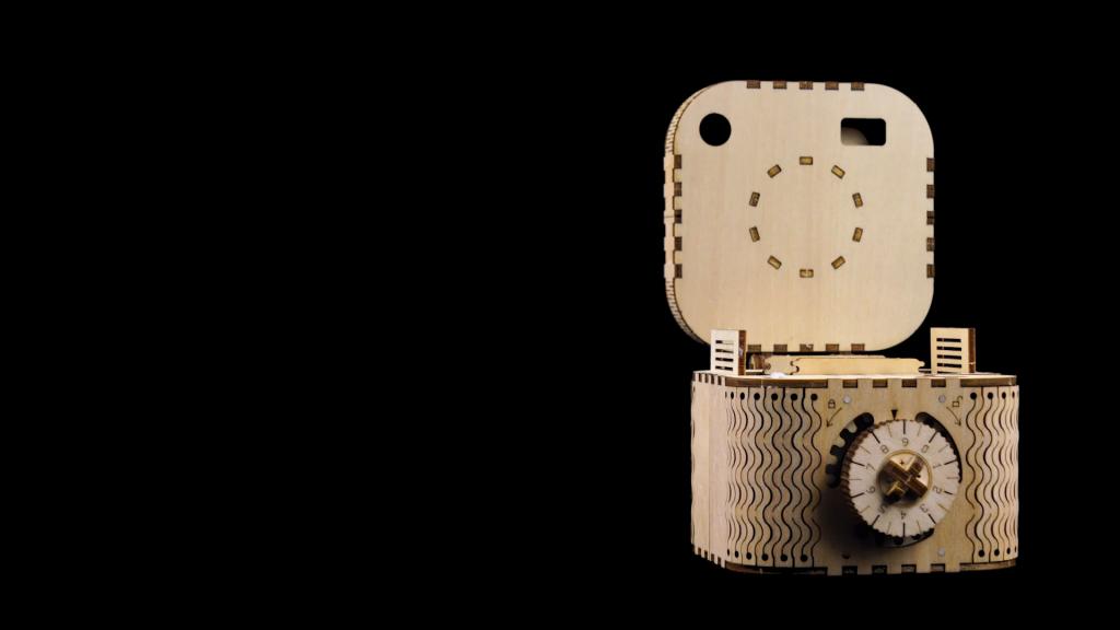 Robotime Modello Meccanico Kit Scatola Del Tesoro Puzzle In Legno 3d Taglio Del Cervello Con Taglio Al Laser Giocattoli Unici Per Bambini Regalo Di Compleanno Di Natale Per Ragazze 0