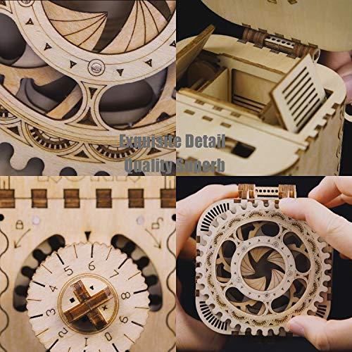 Robotime Modello Meccanico Kit Scatola Del Tesoro Puzzle In Legno 3d Taglio Del Cervello Con Taglio Al Laser Giocattoli Unici Per Bambini Regalo Di Compleanno Di Natale Per Ragazze 0 3