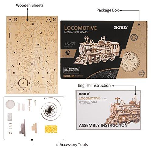 Robotime Puzzle 3d In Legno Tagliato Al Laser Kit Modello Semovente Set Di Costruzione Meccanica Rompicapo Per Bambini Ragazzi E Adulti Air Vehicle 0 4