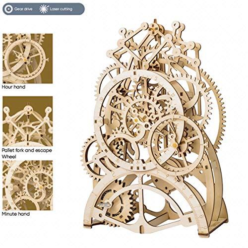 Robotime Puzzle 3d In Legno Tagliato Al Laser Kit Modello Semovente Set Di Costruzione Meccanica Rompicapo Per Bambini Ragazzi E Adulti Locomotive 0 1