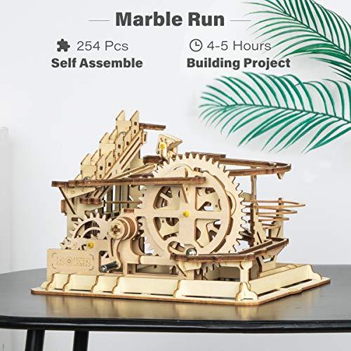 Robotime Puzzle In Legno Tagliato Al Laser Kit Modello Set Costruzione 3d Puzzle Gioca Waterwheel Coaster 0 0
